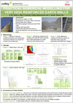 Practical numerical modelling for very high reinforced earth walls